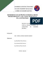 Proyecto de Grado IMPLEMENTACION DE PROTECCIONES EN LA BAHIA TRANSFORMADOR T-1 DE 1.5 MVA DE 69/24.9 kV EN LA SE PUNUTUMA