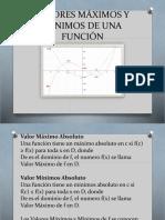 VALORES MÁXIMOS Y MINIMOS DE UNA FUNCIÓN.pptx