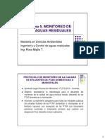 Tema 5. Monitoreo de Aguas Residuales 24.08.16