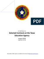 Audit of Texas Education Agency selected contracts
