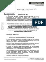 P.Ley que declara de necesidad pública ejecución de proyecto de mejoramiento y ampliación del serv. de agua potable en Espinar