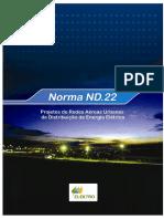 Projeto de Redes Áreas Urbanas de Distribuição de Energia Elétrica - Elektro (2015)
