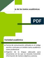 El Lenguaje de Los Textos Academicos