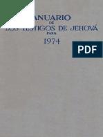 Anuario de Los Testigos de Jehová- 1974