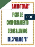Fichas de Comportamiento - Portada