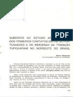 Subsídios Ao Estudo Arqueológico Dos Primeiros Contatos Entre Portugueses E Os Indígenas Da Tradição Tupiguarani No Nordeste Do Brasil