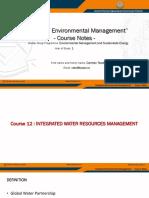 EMSE IEM Course Notes 12