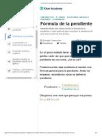Fórmula de La Pendiente (Artículo) _ Khan Academy