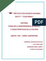 Fases de La Independencia de Mexico - Copia