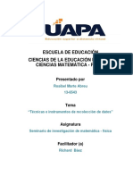 Tarea 3 Seminario de Matematica-fisica, 13-6543. Richard Baez.