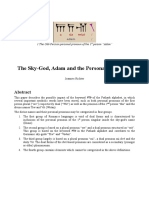 The Sky-God, Adam and the Personal Pronouns
