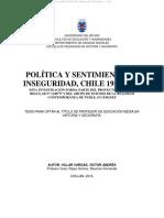 POLÍTICA Y SENTIMIENTO DE INSEGURIDAD, CHILE 1958-1973