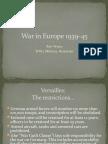War in Europe 1939-45