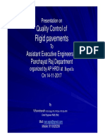 Quality Control of Rigid Pavements 1