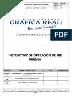 PP - IPRO-001 V01 Instructivo de Operación de Pre Prensa