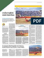 El Comercio (Lima-Peru) Lun 9 Julio 2018 (Pag A30) Pagina Taurina