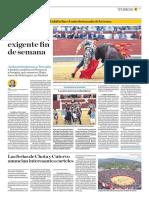 El Comercio (Lima-Peru) Lun 18 Junio 2018 (Pag A29) Pagina Taurina