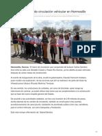 04-09-2018-Inauguran tramo de circulación vehicular en Hermosillo - Tribuna