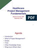 Healthcare PM Fundamentals Sept 2007 Scribd