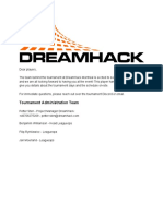 Player Handbook DreamHack Montreal