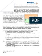 8.0 Determination of Conformance With Specifications or Limit Values With Particular Reference to Measurement Uncertainties - Possible Strategies