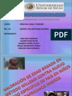VALORACIÓN DE EDAD BASADA EN MÉTODO WILLEMS CONTRA NUEVO MÉTODO ESPECÍFICO DE PAÍS EN NIÑOS SUDAFRICANOS NEGROS.pptx