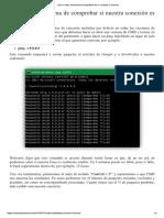 Ping Comprobar Conexion Estable