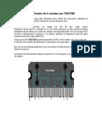 Amplif. de 4 Canales Con TDA7386
