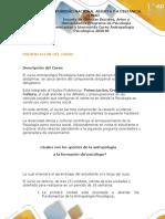 Presentación Del Curso - Antropología Psicológica
