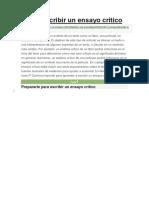 Directrices Para Escribir Un Ensayo Critico Según WikiHow