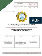 Caracterización Del Proceso Gestión de Biblioteca 2do Modelo