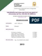 Difusión de Gases-Laboratorio UNMSM