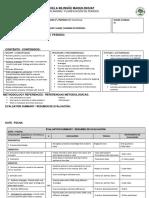 1st Period Planning English