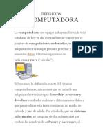 DEFINICIÓN DECOMPUTADORA
