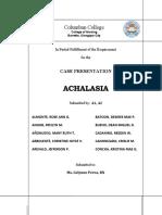 Case Study ACHALASIA With LOGO