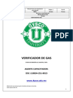 Verificador de Gas