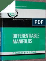 Differentiable Manifolds Clark Van Nostrand 1970