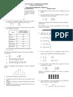 Evaluacion Matematicas Sexto Grado