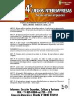Reglamento Interno de Bolos Criollos