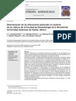 Determinación de Las Alteraciones Posturales en Alumnos de BUAP