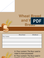 Wheat Bread and White Bread