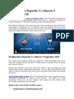 Prediksi Reus Deportiu vs Albacete 9 September 2018