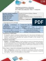 Guía de Actividades y Rúbrica de Evaluación - Fase 1 - Indagación