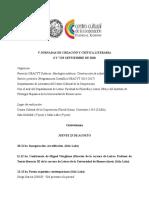 Programa V Jornadas CCC 2018