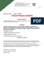 Grado 5 Plan de Clase de OCTUBRE - Copia