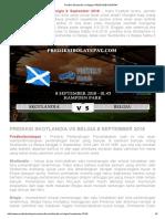 Prediksi Skotlandia vs Belgia 8 September 2018