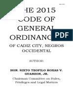 Omnibus City Ordinances of Cadiz City
