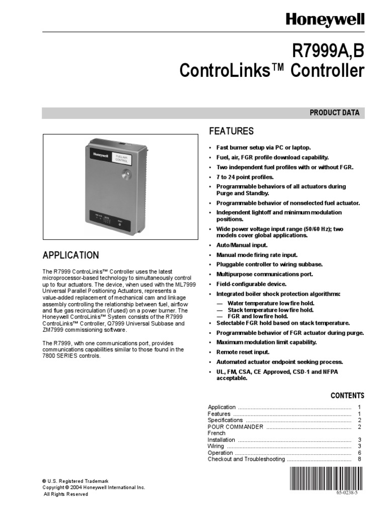Control Honeywell 92pdf Electrical Wiring Actuator Rm7800 Diagram