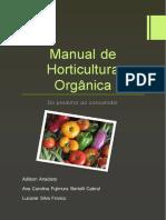 Livro Manual de Horticultura Organica