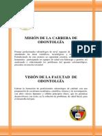 Uce Mision y Vision de La Carrera y La Facultad de Odontologia 7